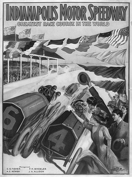 Indianapolis Motor Speedway Poster 1919