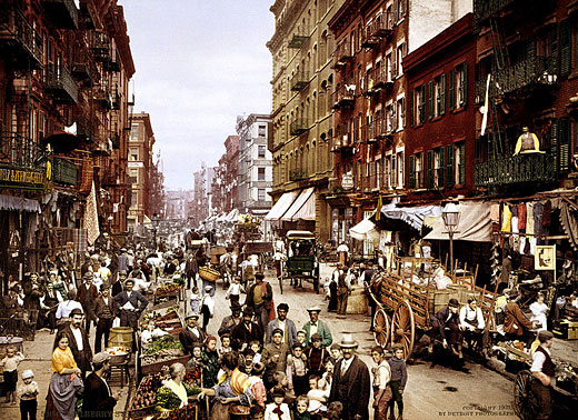 Mulberry Street in New York City 1900 (Detroit Publishing Co.)