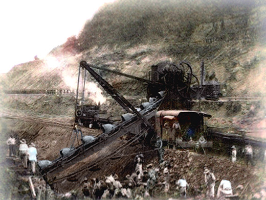 Panama Canal, built by the USA 1904–14