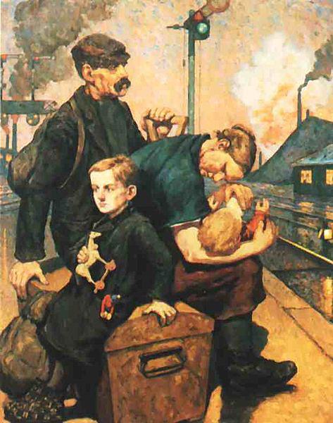 Emigrants   Painting of Hans Baluschek 1912
