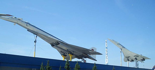 TU 144 and Concorde Museum Sinsheim, Germany